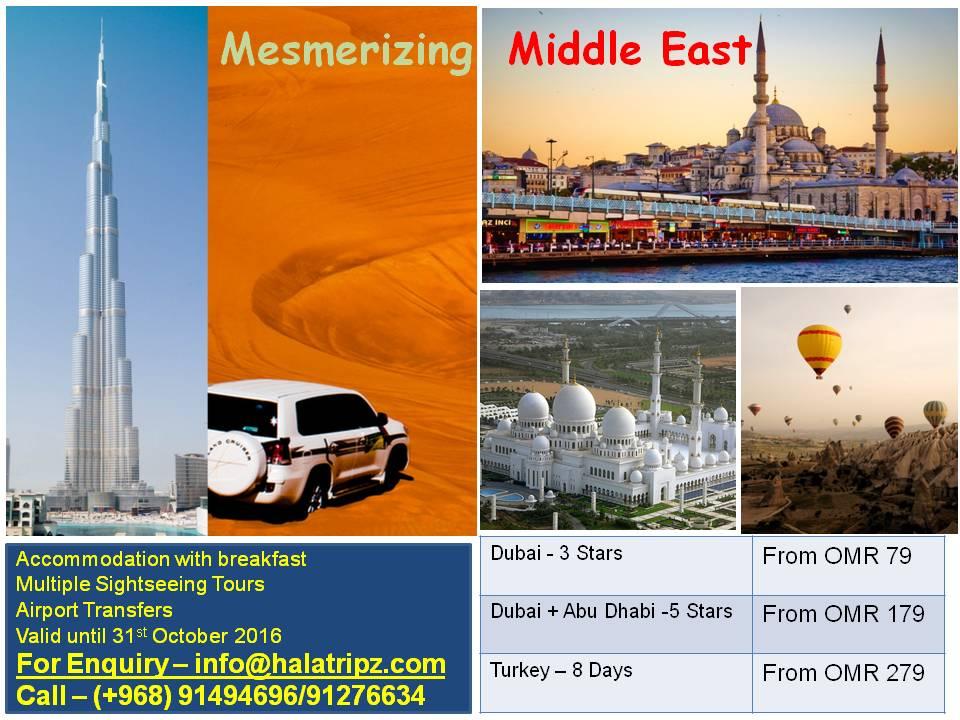 Mesmerizing middle east 2016
